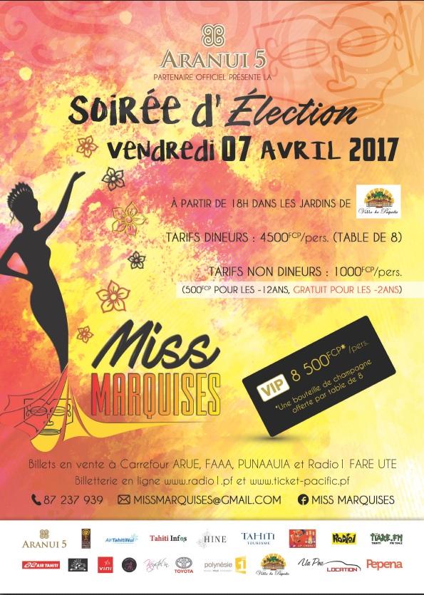 Qui sera Miss Marquises ? Réponse le 7 avril
