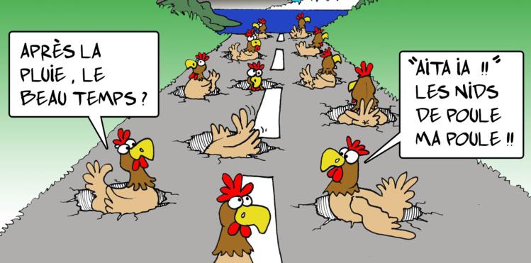 """"""" Les nids de poule """" par Munoz"""