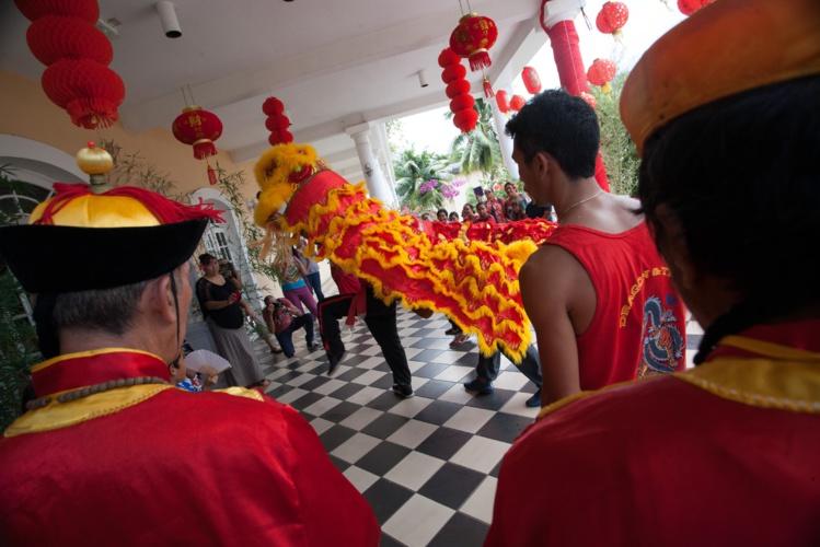La danse du lion ouvrira les festivités demain.