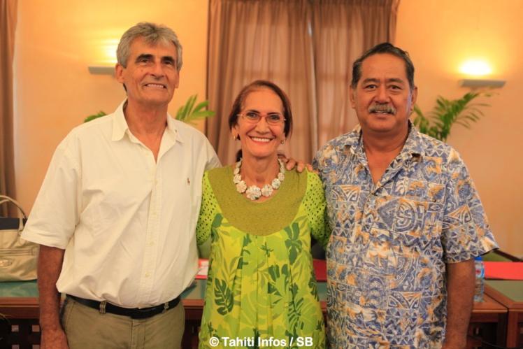Jeann Chicou, Pauline Moua et Rodolphe Apuarii