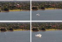 Australie: un avion plonge dans une rivière devant des milliers de spectateurs