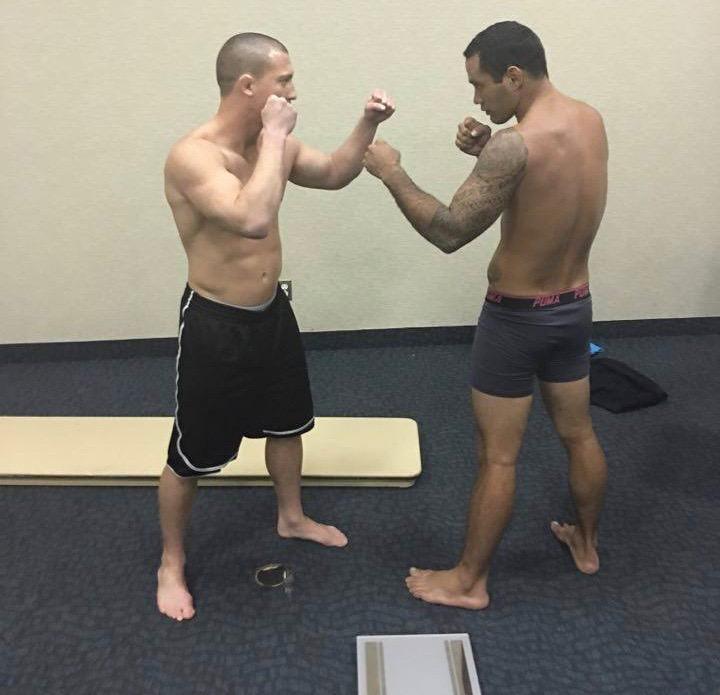 Tamahau Mc Comb avant son combat