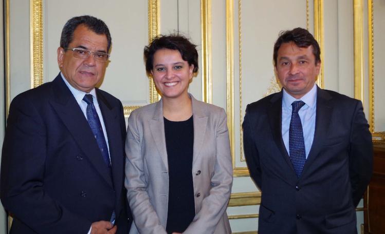 Edouard Fritch rencontre Najat Vallaud-Belkacem à Paris
