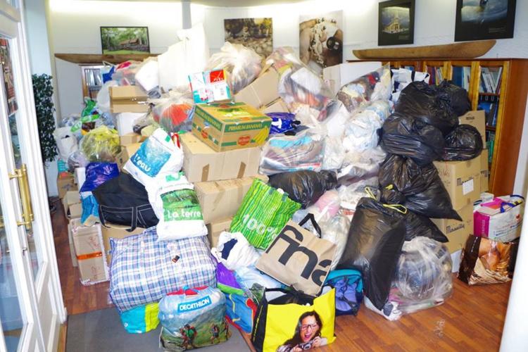Sinistrés : les dons continuent d'affluer