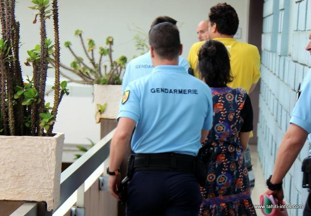 Le couple a été directement conduit à Nuutania à l'issue de l'audience de comparution immédiate.