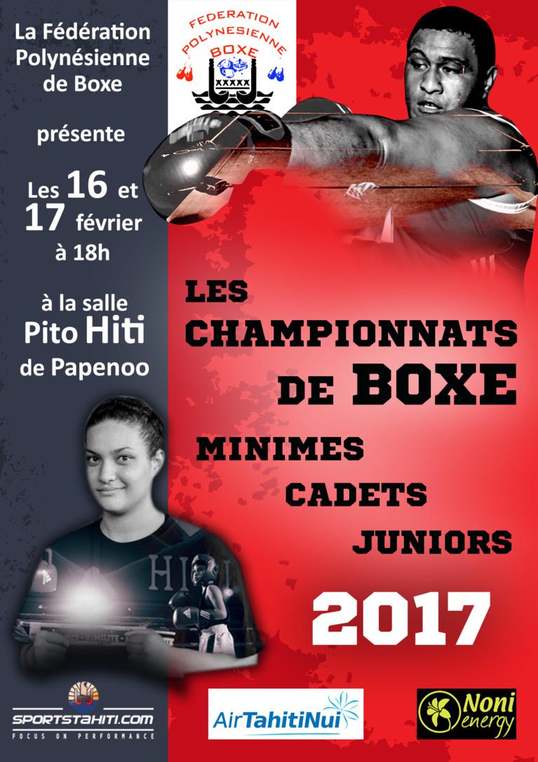 Boxe : Championnat Minimes, Cadets, Juniors de la Fédération Polynésienne de Boxe