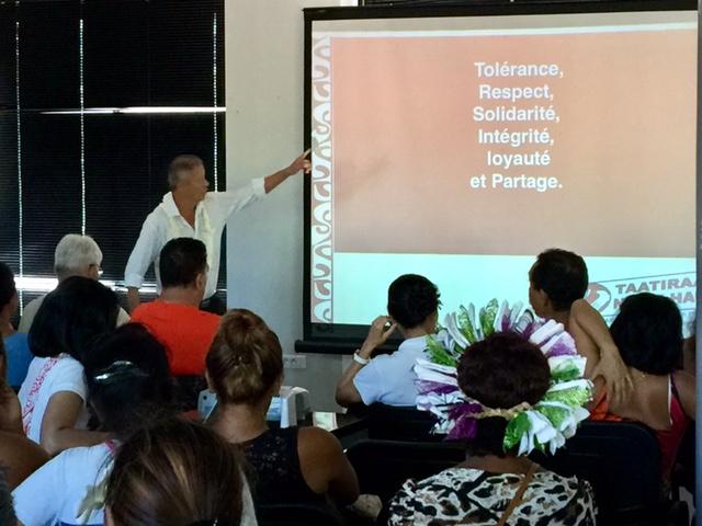 Assemblée générale: le Taatiraa No Te Hau soutiendra le Tapura