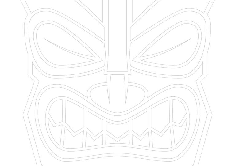 N'oubliez pas de confectionner votre masque tiki pour le vernissage à la galerie Winkler.