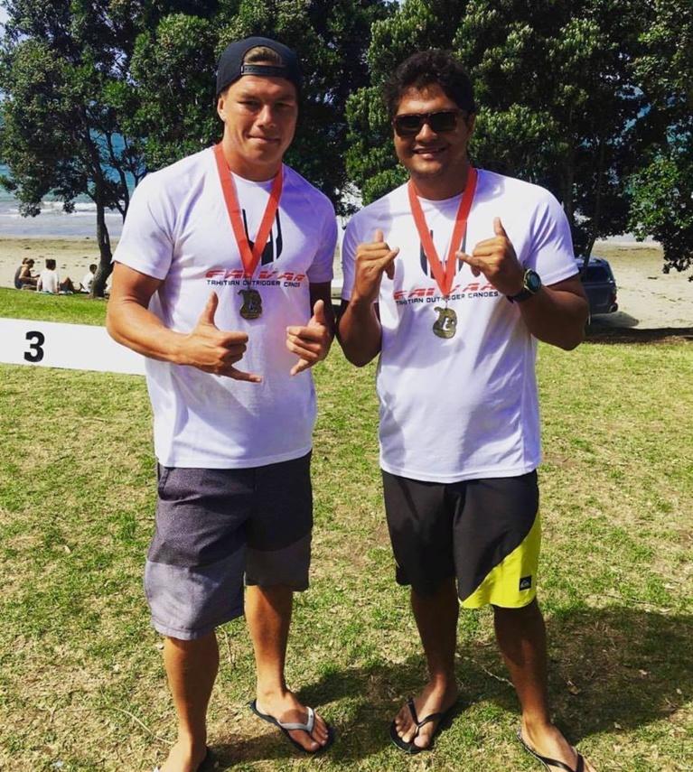 Tupuria King et Kevin Céran-Jérusalémy à Takapuna Beach