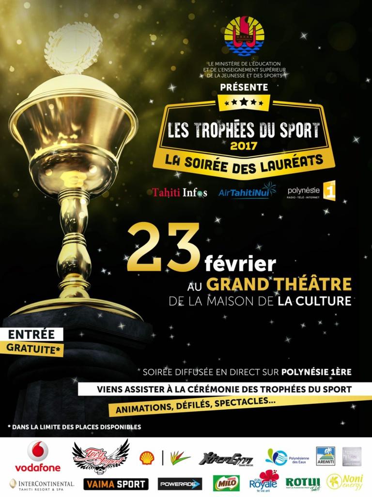 Trophées du Sport 2017 – La soirée sera ouverte au public