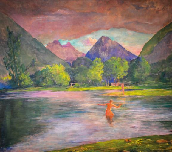 The Entrance to the Tautira River, John La Farge, Tahiti, vers 1895, huile sur toile, National Gallery of Art.
