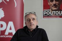 Le candidat à la présidentielle du Nouveau parti anticapitaliste (NPA) Philippe Poutou.