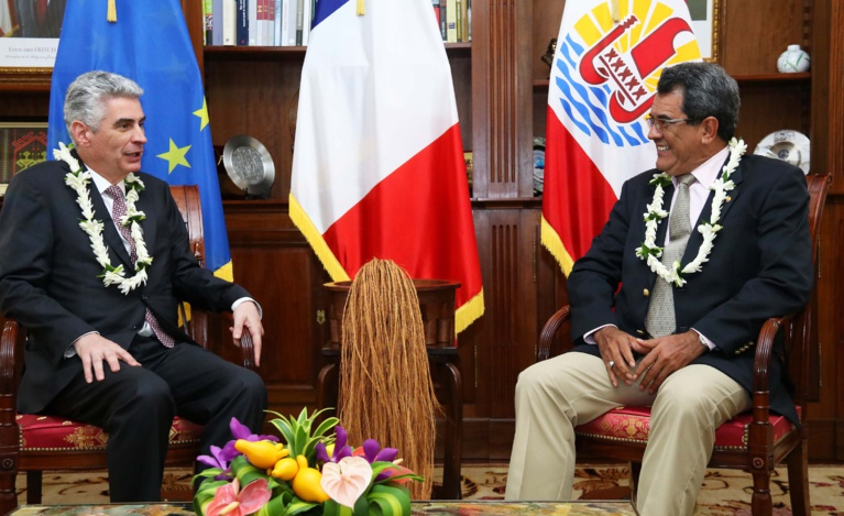 Edouard Fritch reçoit l'évêque président de l'Eglise mormone