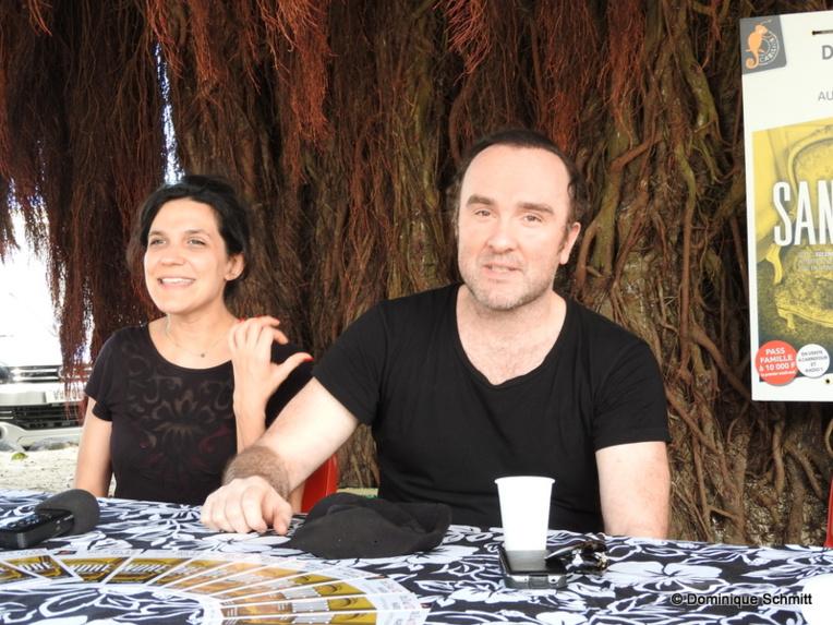 L'auteur Solenn Denis et le comédien Erwan Daouphars affichent une belle complicité.