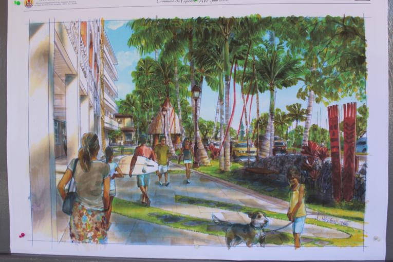 Papeete : des réaménagements de la rue Jeanne d'Arc au boulevard Pomaré