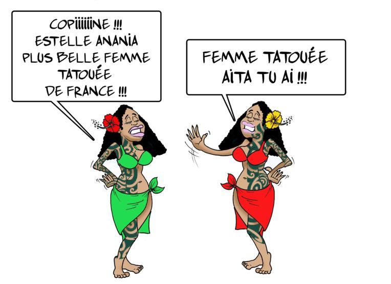 """"""" La plus belle femme tatouée de France """" vu par Munoz"""