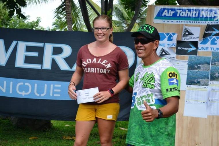 Floriane Broustal, unique participante en kayak open dame