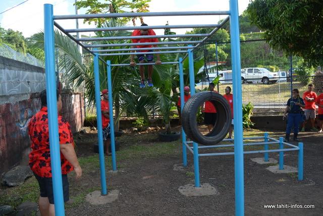 Un espace a également été aménagé pour d'autres activités sportives.
