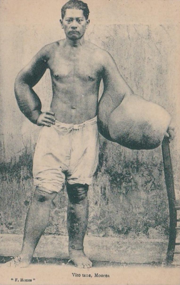 Vito tane de Moorea vers 1900. Photo F. Homes