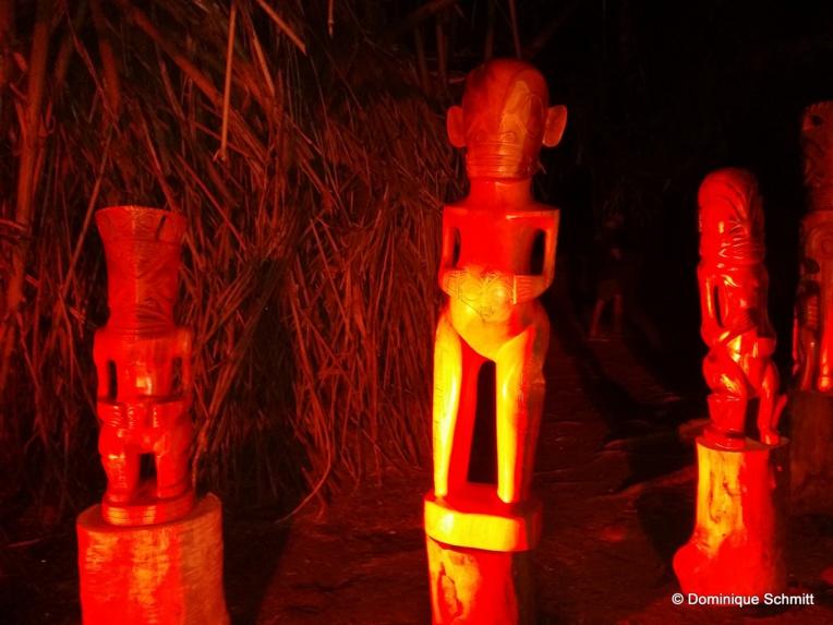 Superbement mis en lumière, les tiki ont dévoilé tout leur mana.