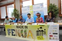 : L'équipe de la CCISM, organisatrice du salon et Miss Tahiti, Vaea Ferrand, qui sera aussi présente.