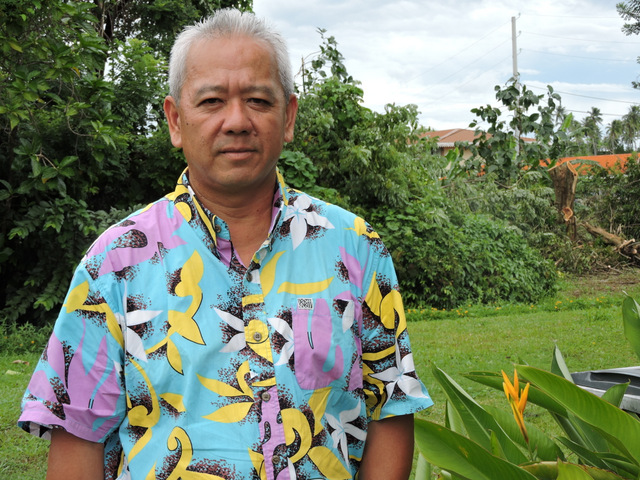 Maurice Wong, responsable du département de la recherche agronomique au service du Développement rural