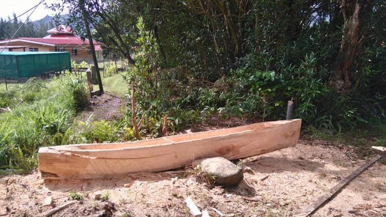 La Team Va'a construit une pirogue qui sera mise à l'eau vendredi.