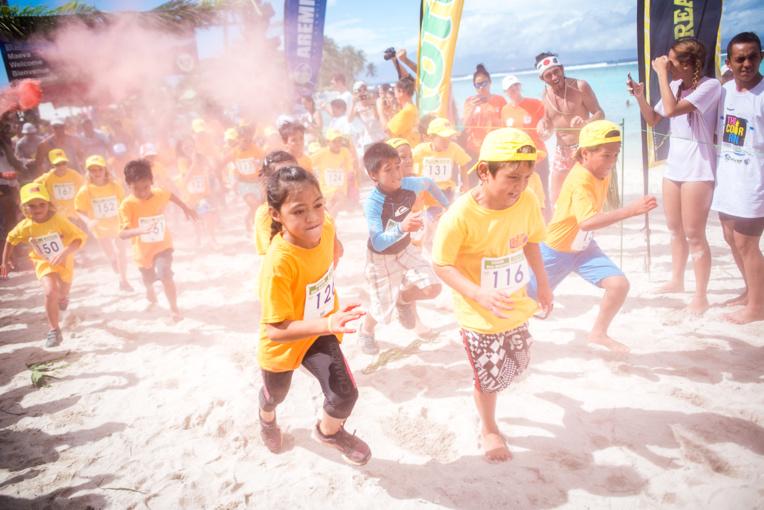 La course pour les enfants est gratuite. Les parents pourront courir avec leurs enfants.