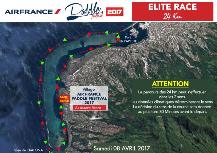 Le parcours de la course Elite