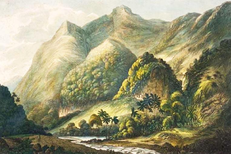 9 IIlustration : John Webber, A View in Matavai, Otaheite. London 1787.