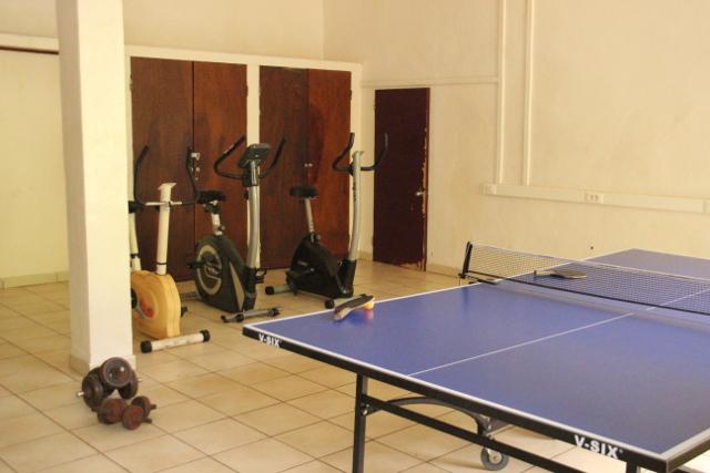 La salle de sport.