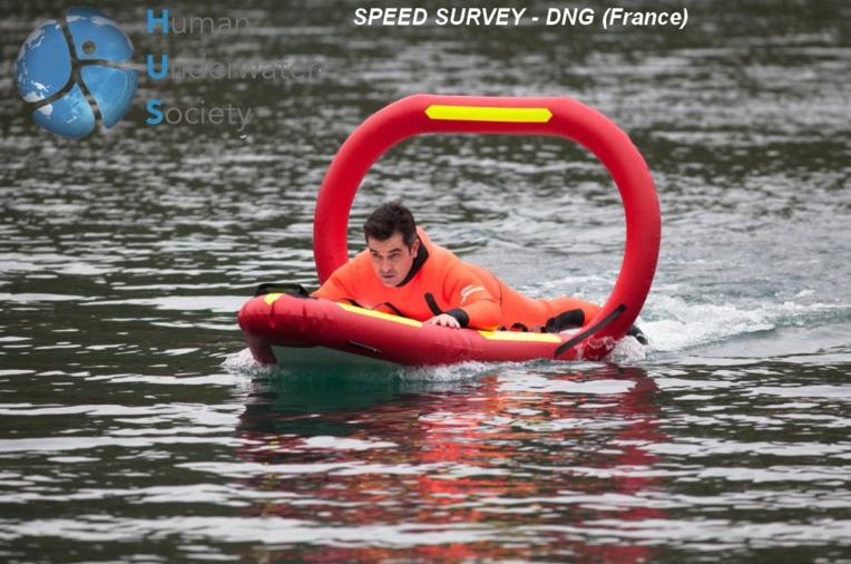 Deuxième du prix Start-up : Speed Rescue de DNG Solution. Ce drone sauveteur en mer est orange fluo, comme de juste.