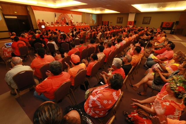 Ils étaient plus de 250 membres lors du grand conseil du Tahoeraa, mardi soir.