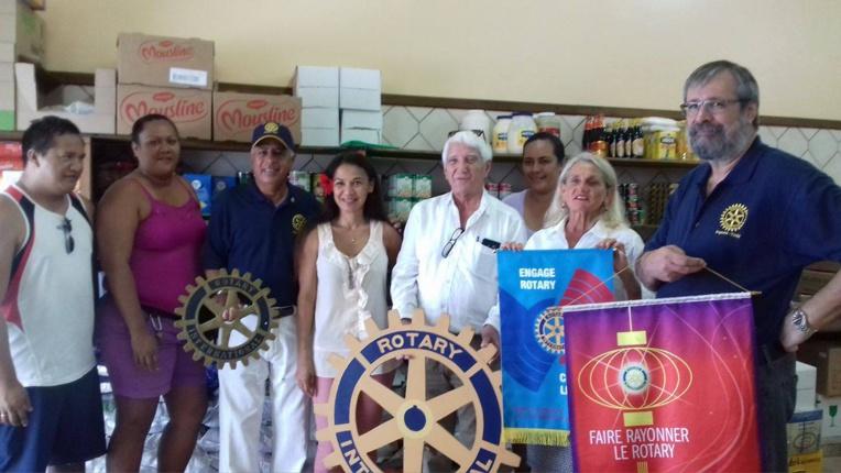 Rotary Club : des dons alimentaires pour les sinistrés