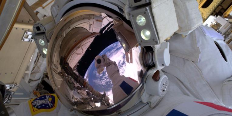 Thomas Pesquet était déjà sorti dans l'espace le 13 janvier dernier.@ THOMAS PESQUET / ESA/NASA / AFP