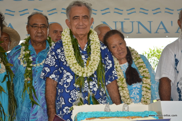 Ce congrès était également l'occasion de célébrer les 40 ans d'existence du Tavini Huiraatira. Un moment fort pour le couple Temaru.