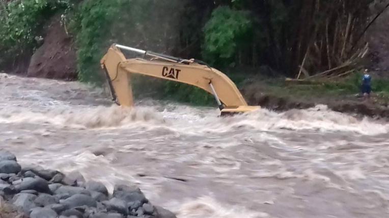 Le niveau de la rivière de Onohea est monté d'un coup. (Facebook)