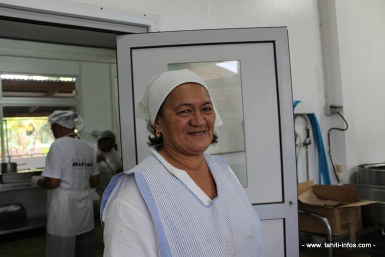 Liliane Peu, chef d'orchestre de la cuisine centrale de Mahina