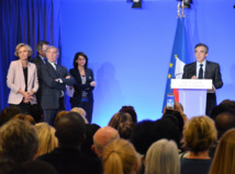 François Fillon lors de son allocution devant les ultramarins de l'Hexagone, mercredi à son siège de campagne parisien. (Photo : Outremers 360°)