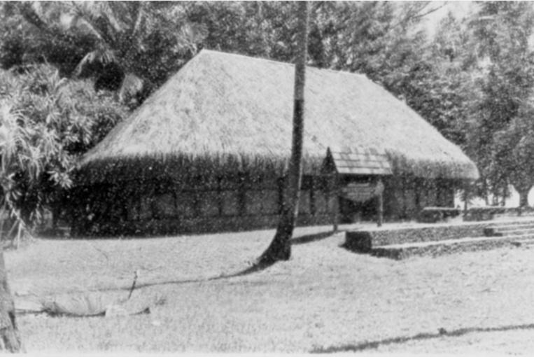 le musée de la découverte situé Pointe Vénus dans les années 1970.