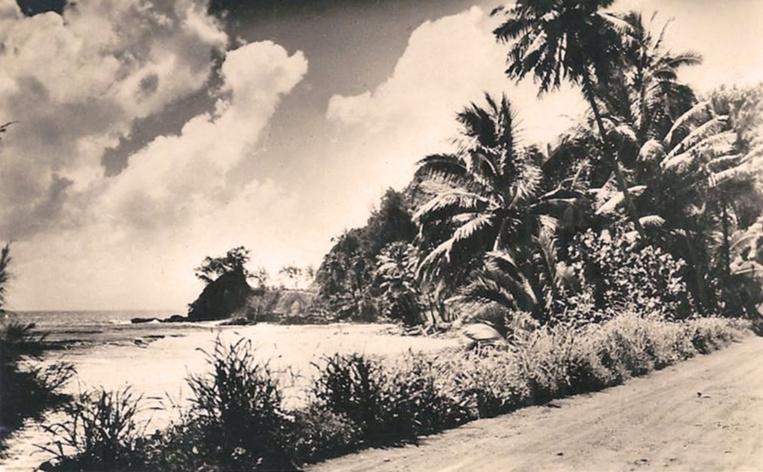La route de ceinture à la hauteur de Orofara en 1940