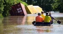 Une rue inondée de Beenleigh, en Australie, le 31 mars 2017, après le passage du cyclone Debbie Patrick HAMILTON  /  AFP