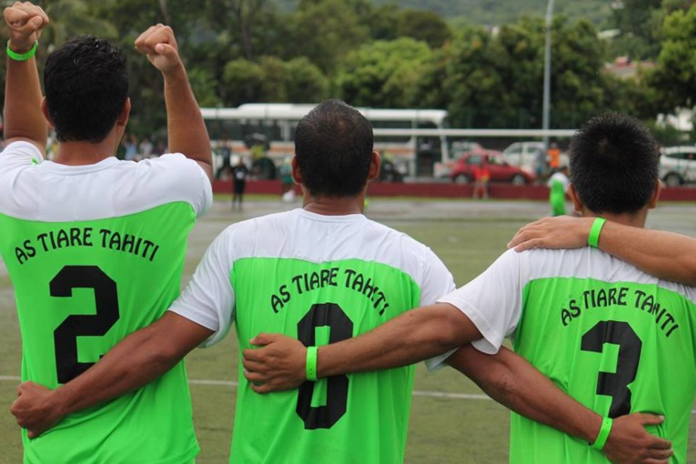 L'AS Tiare Tahiti a fini deuxième, s'inclinant en finale contre l'AS Tiare Hinano (photo : FTF)