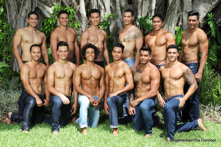 Les douze apollons du fenua en lice pour le titre de Mister Tahiti 2017.