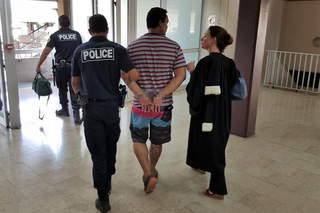Jean Puputauki a été conduit à Nuutania, ce mardi, dans la foulée de la lecture du jugement.
