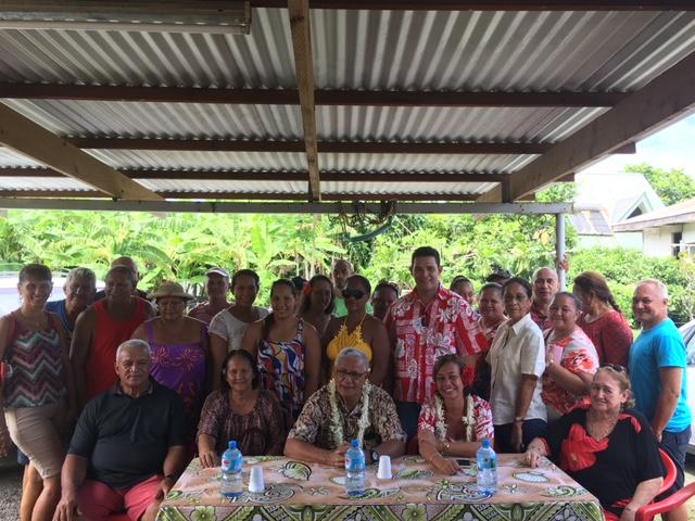Nicole Sanquer a présenté jeudi matin le comité qui fera campagne pour elle à Paea.