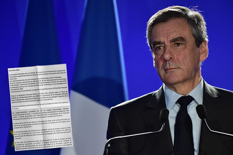 """Présidentielle : Fillon s'engage dans une """"lettre aux Polynésiens"""""""