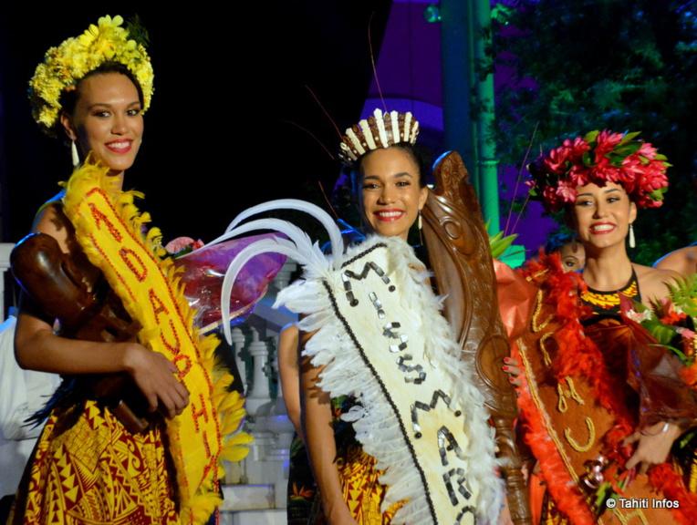 Les trois magnifiques marquisiennes sacrées ce soir : Ayla Kayser, Leslie Timau et Nolwen Balch