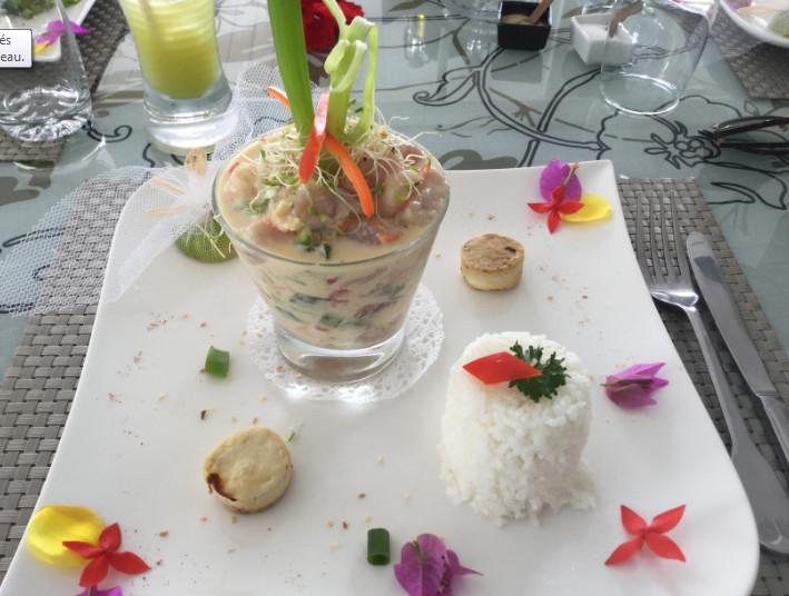 Une mosaïque de plats tous plus recherchés les uns que les autres, et qui font incontestablement de l'hôtel Opoa Beach une des meilleures tables de nos îles.