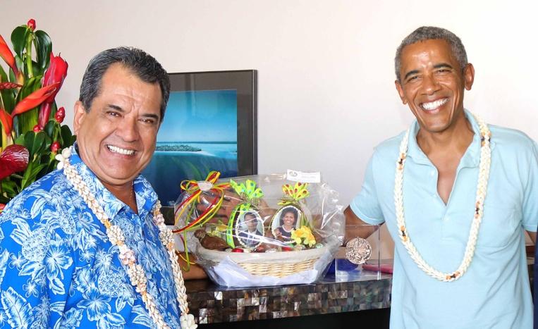 Edouard Fritch a reçu Barack Obama avant son départ